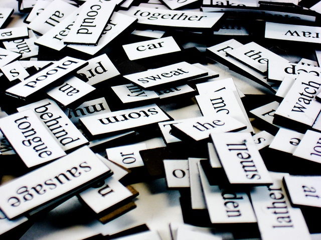 Photo of magnetic poetry words