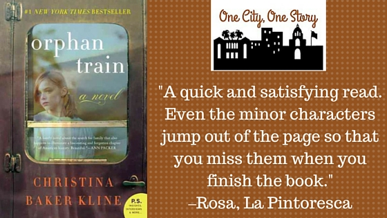 Orphan Train cover and staff blurb