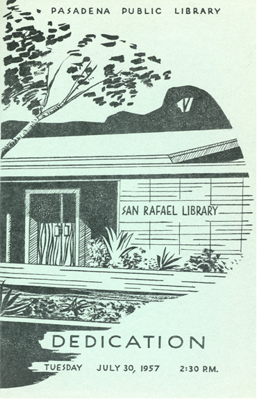 San Rafael Branch Library Dedication Program