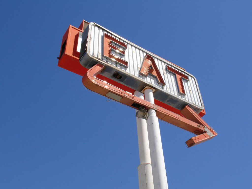 """eat"" sign by mst7022"