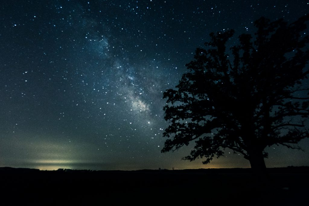 Image of meteor shower by Heath Cajandig