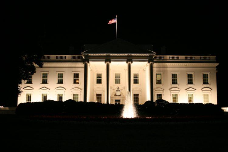 White House at night