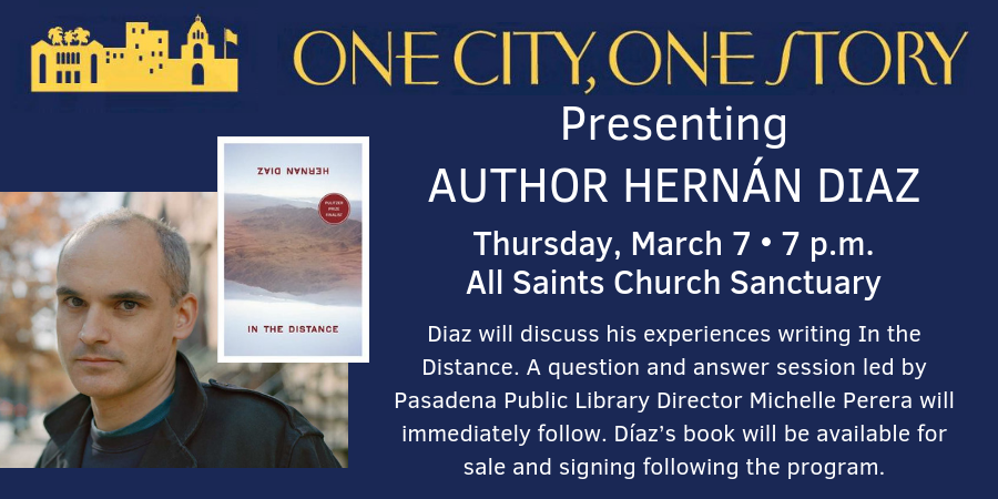 One City, One Story Author Talk at All Saints Church on Thursday, March 7 at 7 p.m.