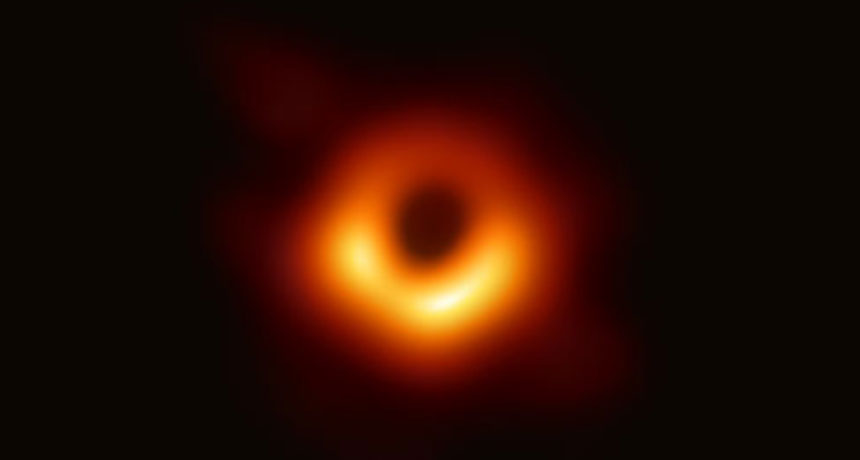 Image of Black Hole in Galaxy M87, credit to the Event Horizon Telescope Collaboration