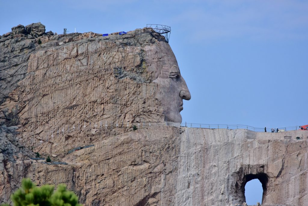 Crazy Horse Memorial under construction in Black Hills, Custer County, South Dakota. Taken by pedrik and shared via CC by 2.0 Attribution License
