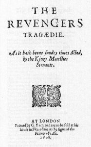 Title and cover page of The Revenger's Tragedy (1608)