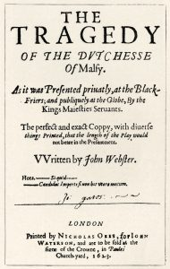Title page of The Duchess of Malfi (1623)