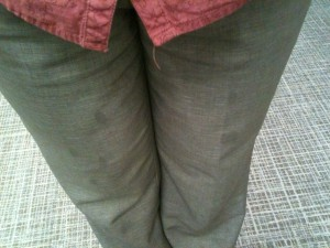bubbles on pants