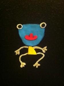 WINDBLOWN frog