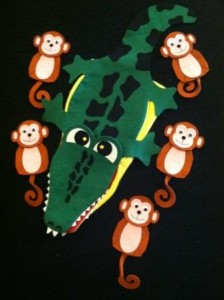 Monkey and alligator2