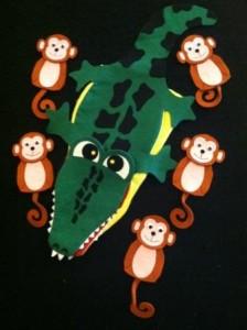 Monkey and alligator2