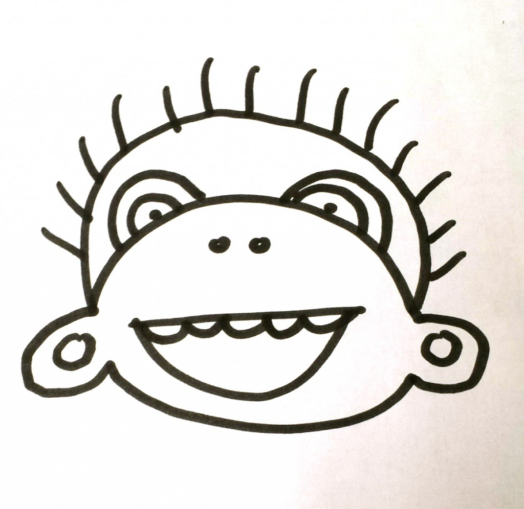 monkey draw and tell