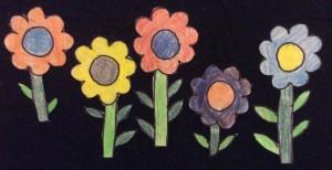 5 pretty flower flannelboard cropped