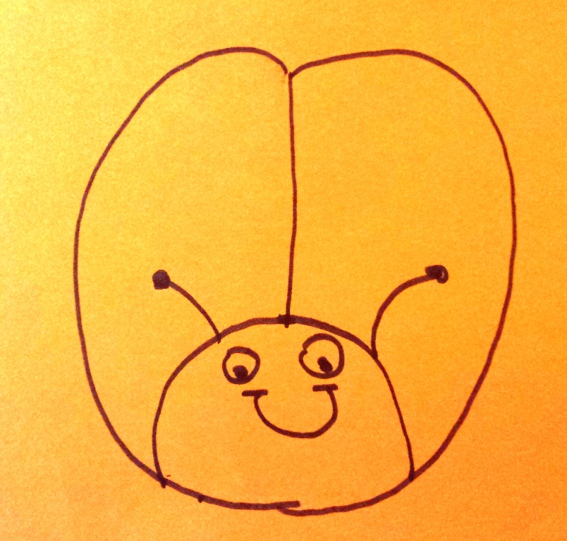 draw and tell lady bug