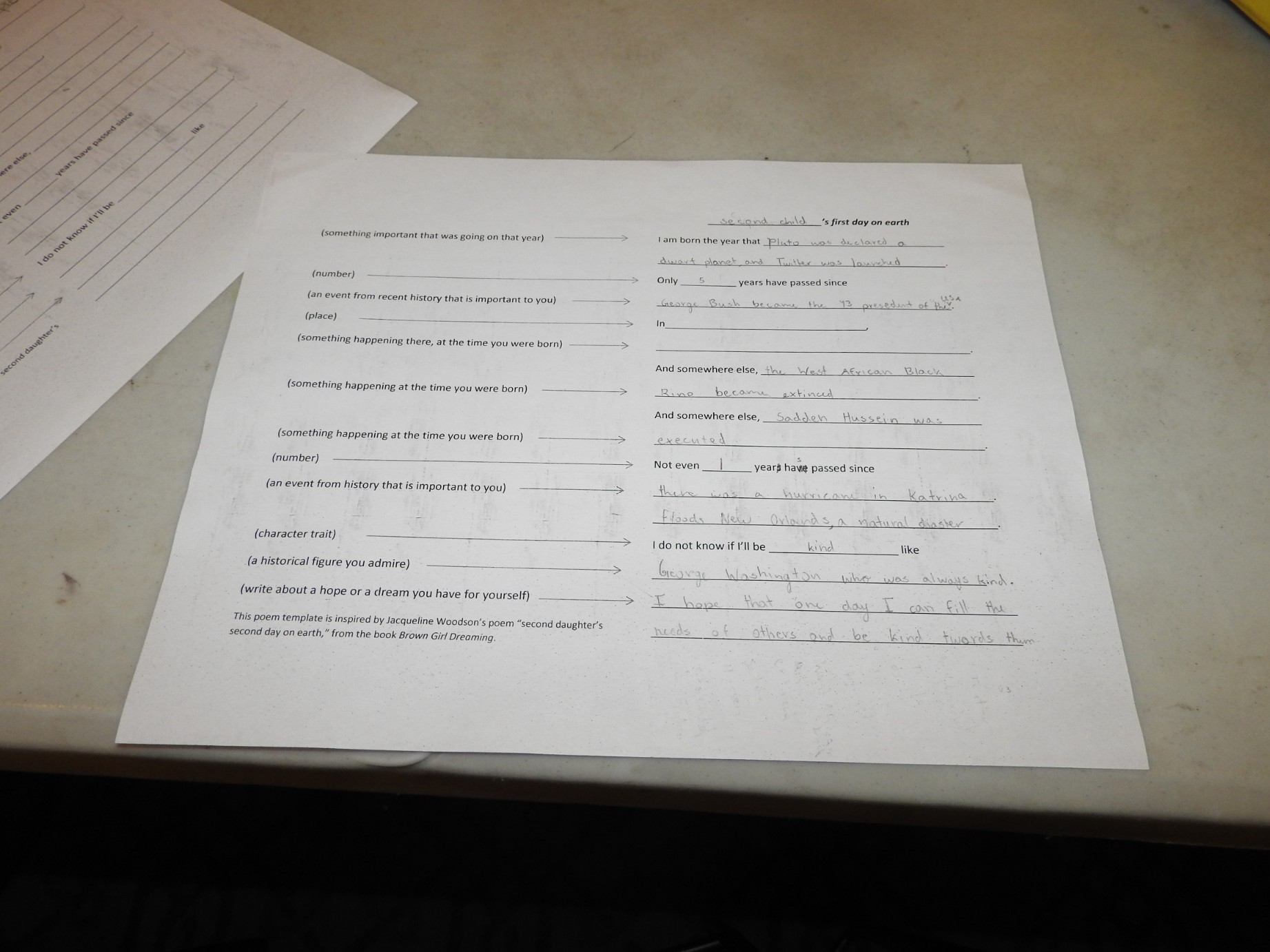 Poetry About Our Moments In History Kids Writing Workshop Kids Blog