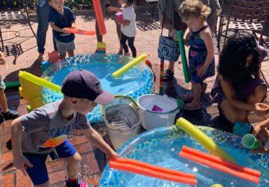 Preschool STEAM ~ Building a Water Slide