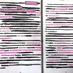 Found and Blackout Poetry by teens