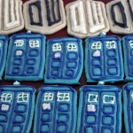 Tardis and logo cookies Photo by Alfonso Huerta