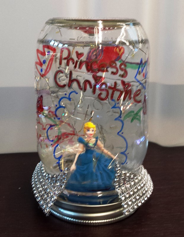 Princess Christine snowglobe by Amy S. age 15