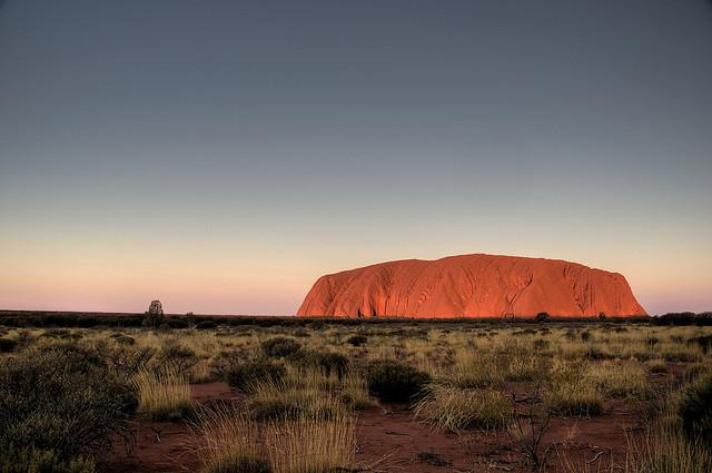 Photo of Uluru in Australia.