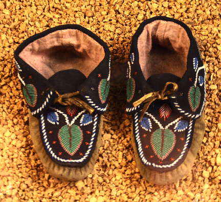 Imange of beaded moccasins