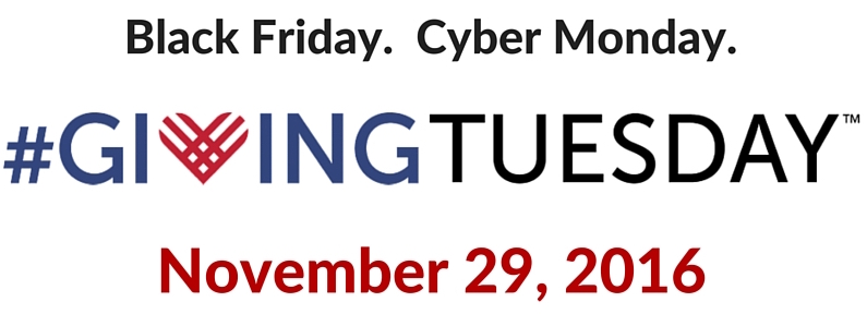 Giving Tuesday logo with date 11/29/2016