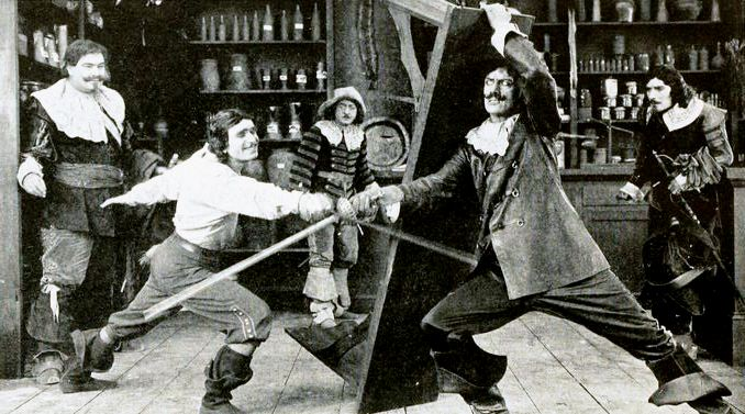 Still image from The Three Musketeers movie starring Douglas Fairbanks.