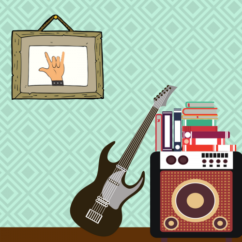 image-rock-and-roll-salute-guitar-amp-and-books