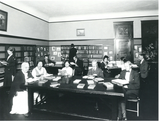 """1920s image of PPL """"Foreign Branch"""" at Garfield school"""